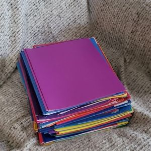 Other - Large stack school folders new been in storage